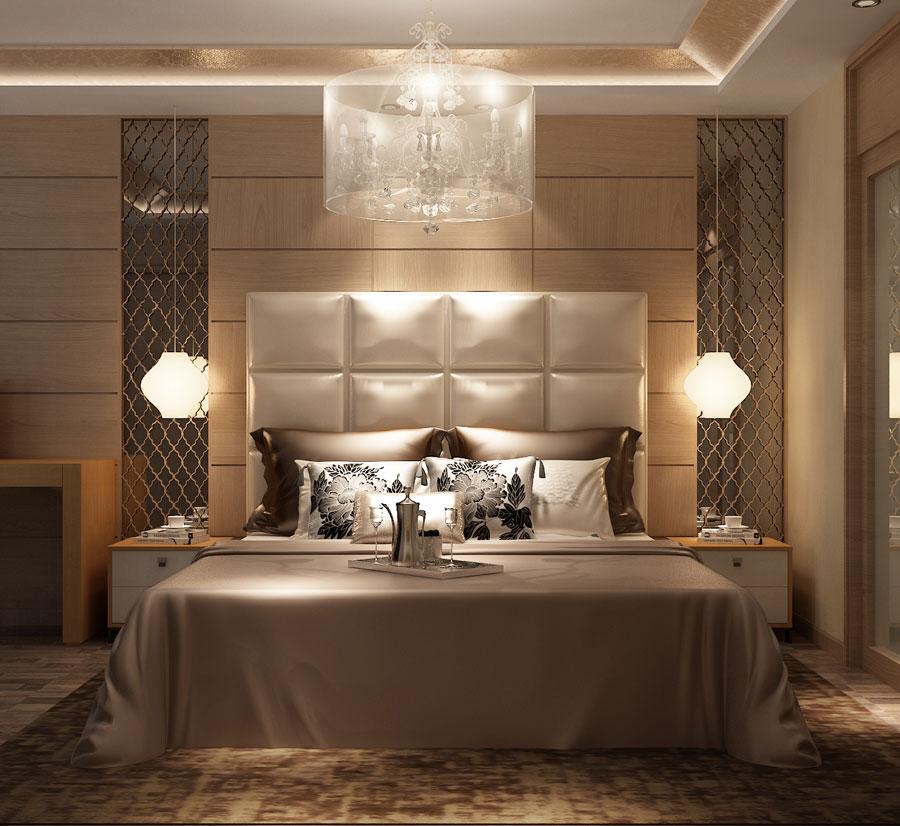 本特利床组合W028b 卧室空间组合