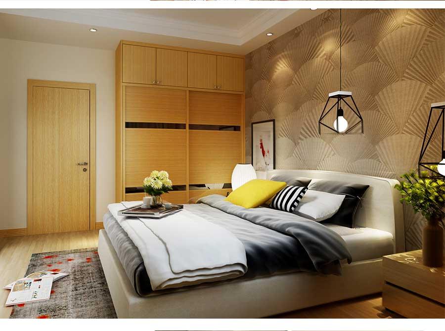 柠檬黄卧室空间