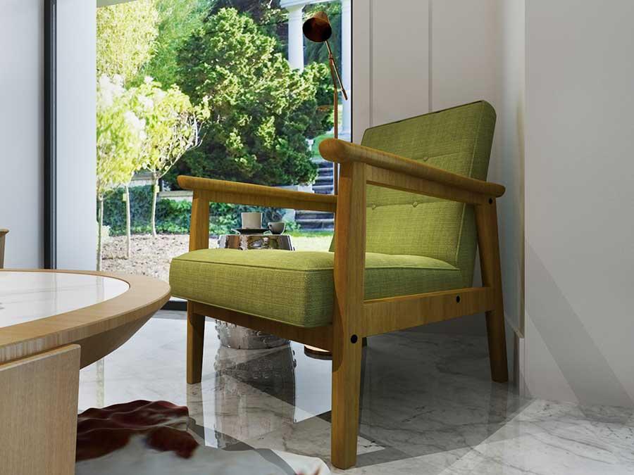 柠檬黄休闲椅组合K049c